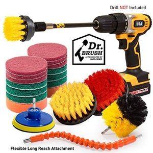 Holikme 21Piece Drill Brush Attachments Set,